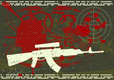 Editable army style grunge background photo