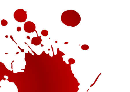 Editable blood splat on white background