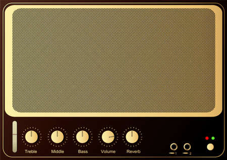 Editable retro guitar amp background Stock Photo - 5002627