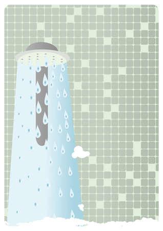 Warm shower background - illustration illustration