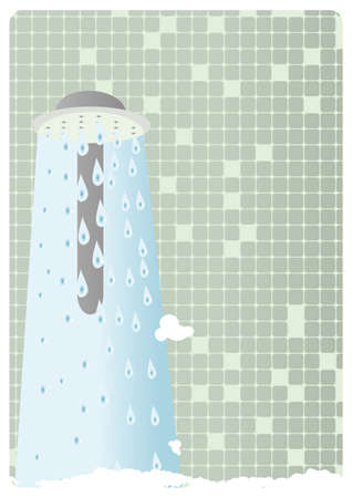 cleanse: Warm shower background - illustration