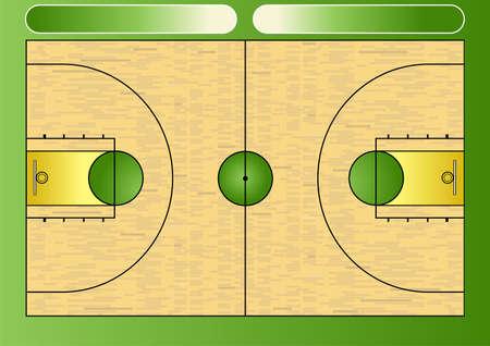 illustration of a basketball court illustration