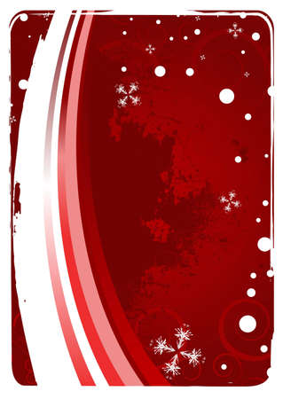 Editable red grunge christmas background with space for your text Stock Photo - 5003045