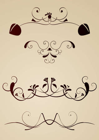 Editable vector design elements photo
