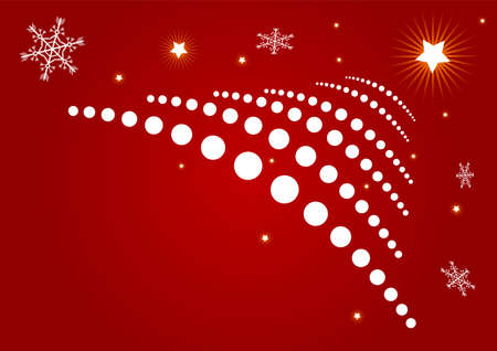 Editable red abstract Christmas background Stock Photo - 5002921
