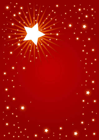 Editable red abstract Christmas background Stock Photo - 5002947