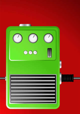 Editable background - Guitar effect pedal Vector