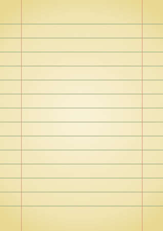 old yellow notebook paper with space for your text Stock Vector - 7315661