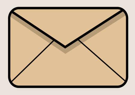 enveloppe ancienne: Vieille enveloppe Illustration