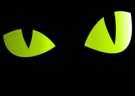 spooky eyes: Mysterious eyes looking from the dark