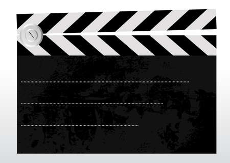 Editable background - old grungy textured clapboard with space for your text Illustration