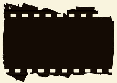 Editable background - grunge film frame with space for your text or image Stock Vector - 7315955