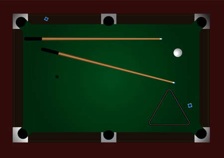 pocket billiards: Editable pool table background with space for your text