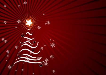 편집 가능한 빨간색 추상 크리스마스 배경 텍스트위한 공간 일러스트