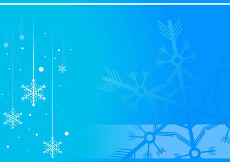 Editable blue winter background with space for your text Stock Vector - 7316378