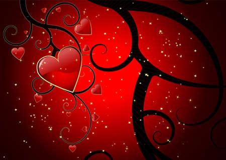Grunge editable Valentines day background Vector