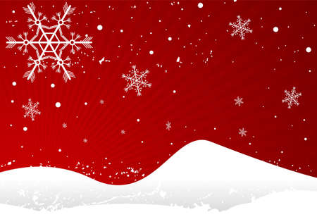 Editable winter background with space for your text Stock Vector - 7316558