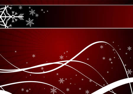 Editable winter background with space for your text Stock Vector - 7316704