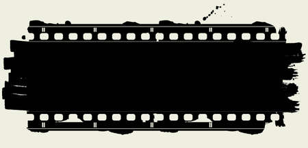 Editable background - grunge film frame with space for your text or image Vector