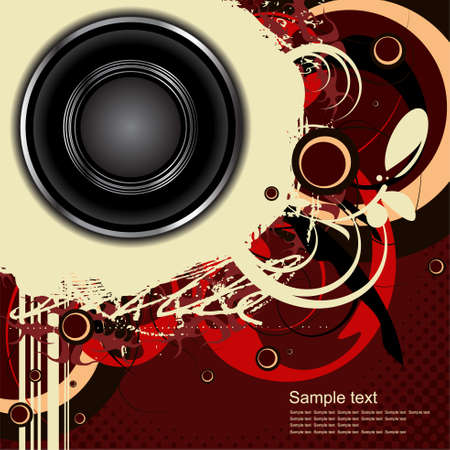 Editable audio background with space for your text Vector