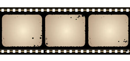 Editable background - grunge film frame with space for your text or image Stock Vector - 7316357