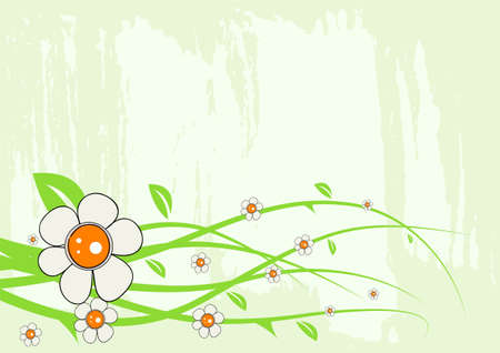 Editable modern floral background with space for your text Stock Vector - 7316248
