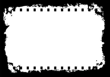 Editable grunge film frame Vector