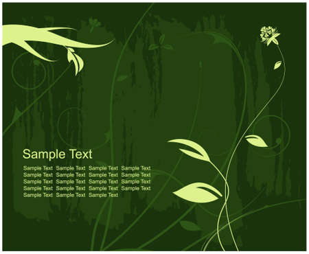 Editable modern floral background with space for your text Stock Vector - 7316380