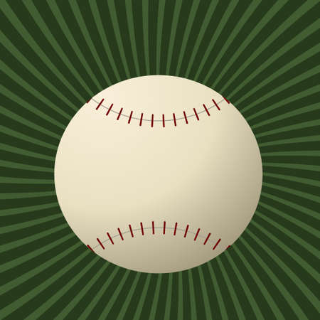 Editable modern baseball background Vector