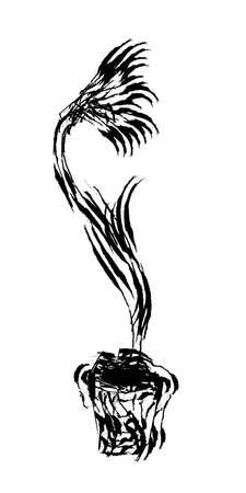 florish: Editable abstract hand drawn flower