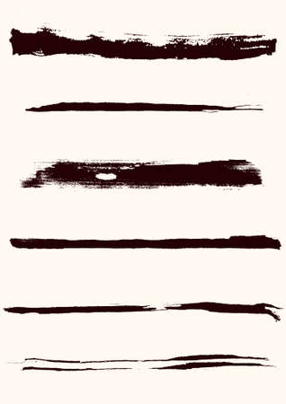 A set of grunge brush strokes (individual objects). Stock Vector - 7316579