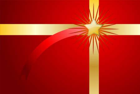 Bewerkbare rode kerst achtergrond (cadeau)