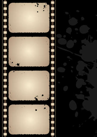Editable grunge film frame background with space for your text Vector