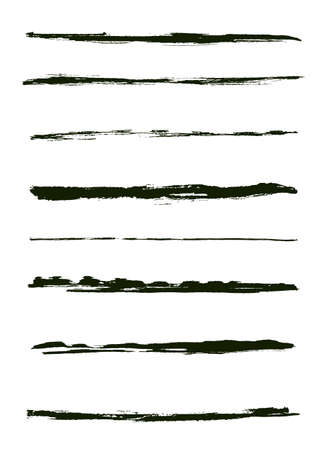 brush stroke: A set of grunge brush strokes (individual objects).