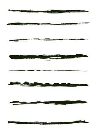 Une série de coups de pinceau grunge (objets individuels).