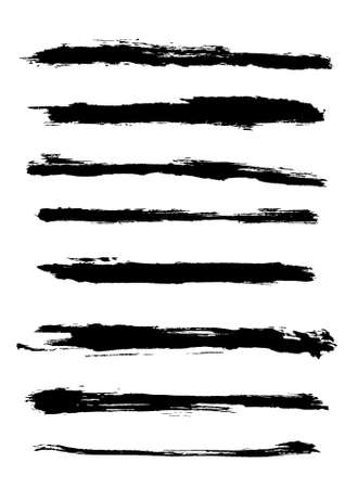 A set of grunge brush strokes (individual objects). Stock Vector - 7316461