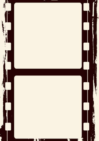 Editable grunge film frame , nice element for your projects
