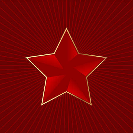 Editable red star background with space for your text