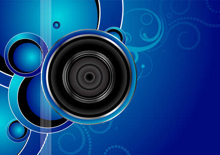 loud   speakers: Editable audio background with space for your text. More images like this in my portfolio.