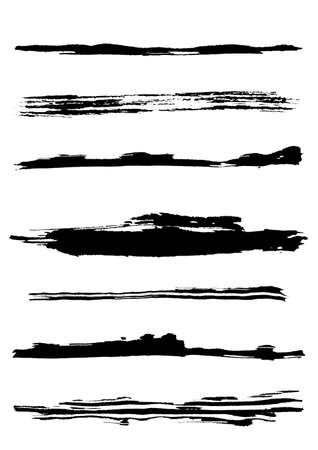 A set of grunge brush strokes (individual objects). More images like this in my portfolio Stock Vector - 7316340