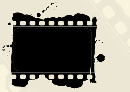 Editable grunge film frame Stock Vector - 7315965