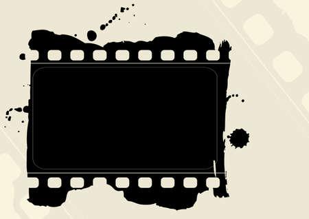Editable grunge film frame