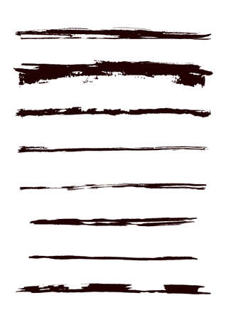A set of grunge brush strokes (individual objects). More images like this in my portfolio Stock Vector - 7316082