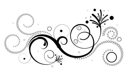 flourishes: Editable design element on white background. More images like this in my portfolio