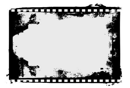 Editable film frame background with space for your text or image