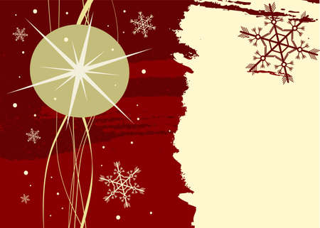 Editable Christmas background with space for your text Stock Vector - 7316391