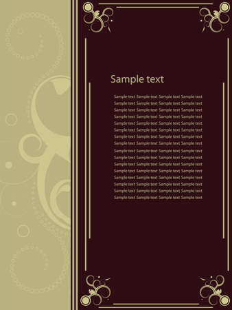 Editable decorative  frame with space for your text or image. Vector