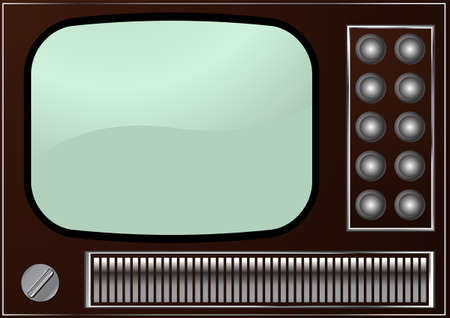 Editable background - retro  TV Vector