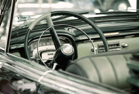 Interior of an old vintage car Stock Photo - 7316559