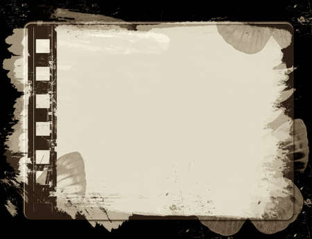Computer designed highly detailed film frame with space for your text or image.Nice grunge element for your projects Stock Photo - 7326052